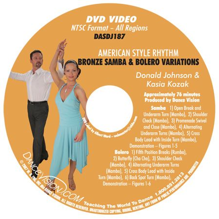 Samba Bolero Bronze Variations Johnson on Foxtrot Dance Pattern